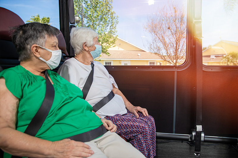 residents on bus